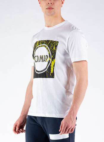 T-SHIRT STAMPA GRAPHIC, 01WHT, small