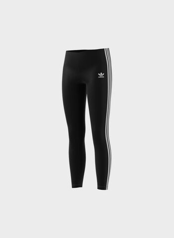 LEGGINGS 3-STRIPES RAGAZZA, BLK, small
