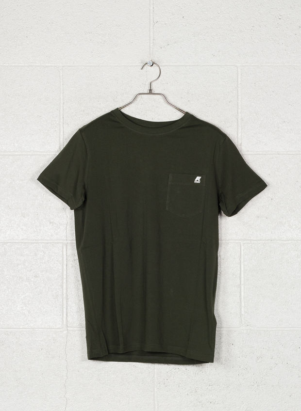 T-SHIRT CON TASCHINO, 576GREEN, large