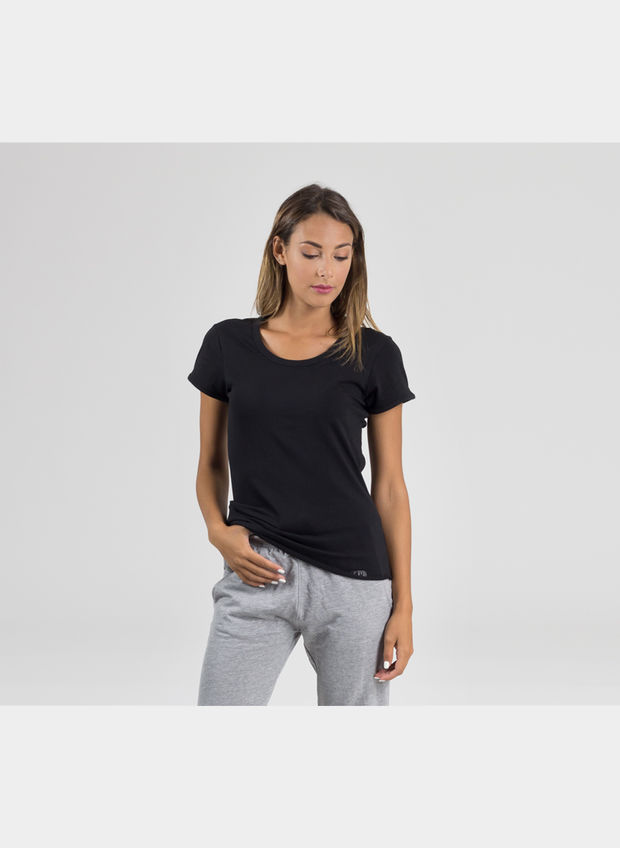 T-SHIRT COSTINA BASIC, BLK, large