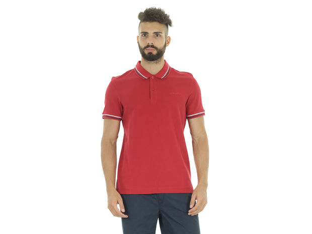 POLO L73 PIQUET BORDINI , RED RUBIN, large