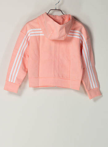FELPA CON CAPPUCCIO MUST HAVES 3-STRIPES RAGAZZA, PINK, small