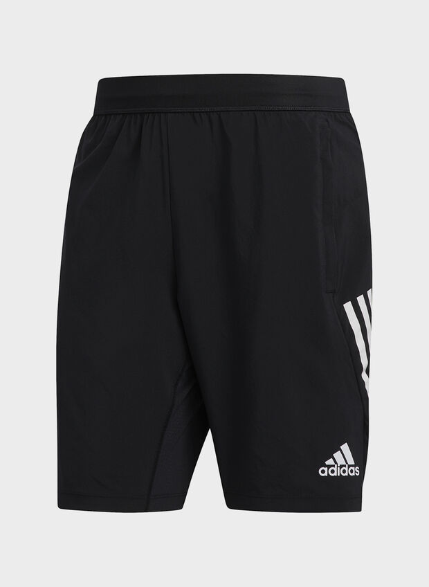 SHORT 4KRFT 3-STRIPES 9-INCH, BLK, large