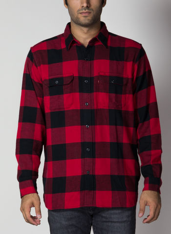 CAMICIA JACKSON WORKER, 0096BLKRED, small