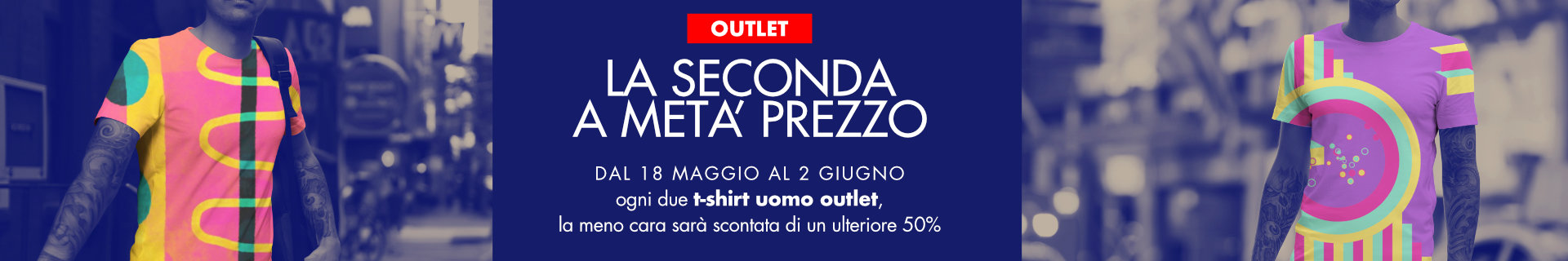 T-shirt uomo outlet in promozione